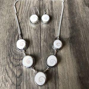 Shiva Eye Gemstone 925 Silver Necklace/Earrings